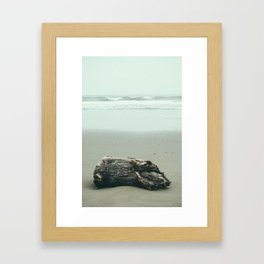 La Push Log Framed Art Print
