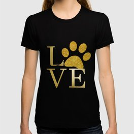 Love is a Four Letter Word - Black and Gold T-shirt
