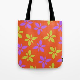 Illustration of flowers(orange background) Tote Bag