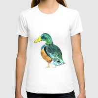 duck T-shirts featuring Duck by Frau Ottilie Illustration