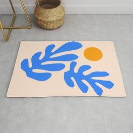 Henri Matisse - Leaves - Blue Rug
