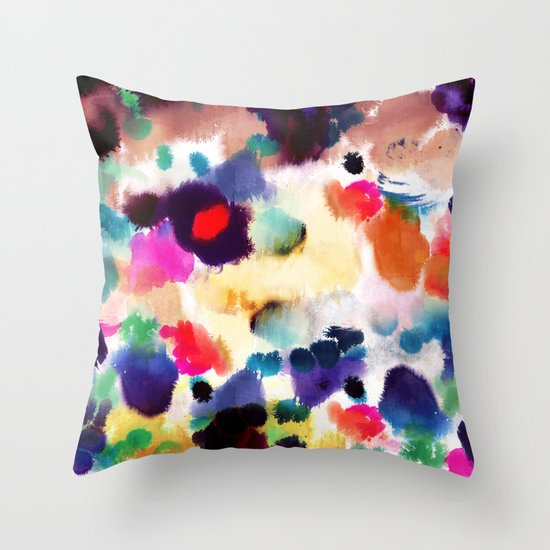 Ink Mix II Throw Pillow