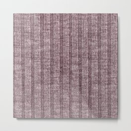 Dusty Pink Jersey Knit Pattern Metal Print