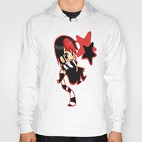 scott pilgrim Hoodies featuring Scott Pilgrim- Knives Chau  by Mango Mamacita