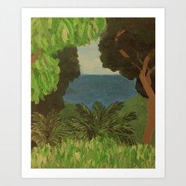 Carib Territory Hike Art Print