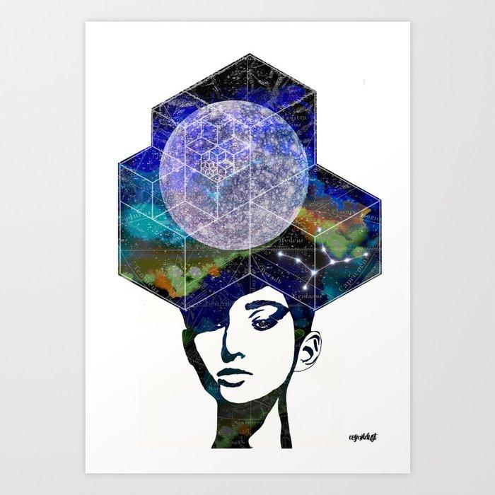 Virgo (zodiac series 2) Art Print