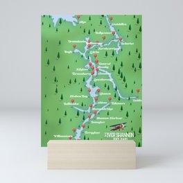 River Shannon Ireland Map Mini Art Print