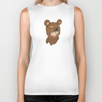 furry Biker Tanks featuring Furry baby by Metin Seven