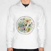 succulents Hoodies featuring Succulents Mandala by Hannah Margaret Illustrations