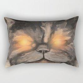 Glowing Eyes Rectangular Pillow
