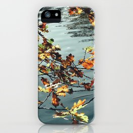 Leaves and the Lake iPhone Case