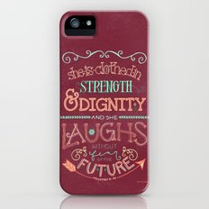 Strength and Dignity iPhone (5, 5s) Slim Case