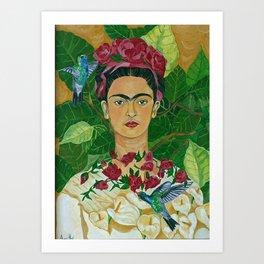 Frida In Heaven Art Print