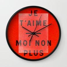 Je t'aime...moi non plus Wall Clock
