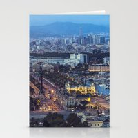 barcelona Stationery Cards featuring Barcelona by AnnaGo