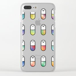 Happy Pills Clear iPhone Case