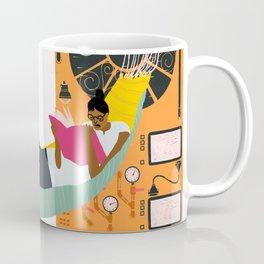 Reading on a spaceship Coffee Mug