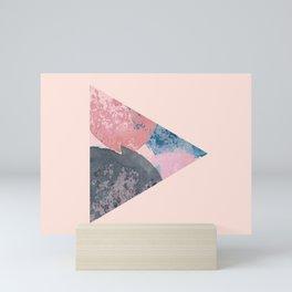 Nordic Colors Triangle Print  Pink Watercolor Mini Art Print