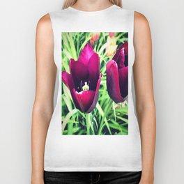 Purple Tulips in Bloom Biker Tank