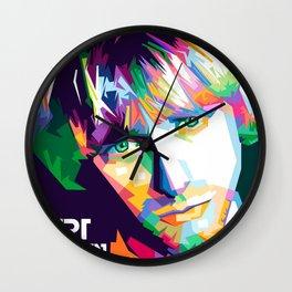 Cobain In Pop Art Wall Clock