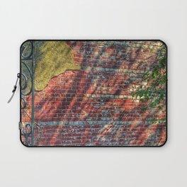 Brick, Plaster, Shadows and Steel Laptop Sleeve