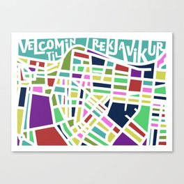 Welcome to Reykjavik Canvas Print