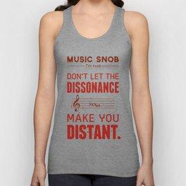 Spooky Scary Dissonance! — Music Snob Tip #439.5 Unisex Tank Top