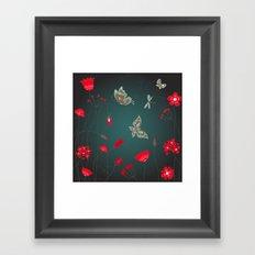 Tatemae Japanese Green Framed Art Print