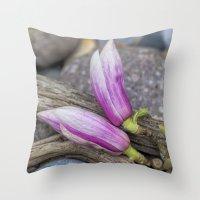magnolia Throw Pillows featuring Magnolia by LebensART Photography