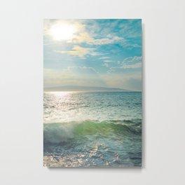Pā'ako Beach Iridescence Metal Print