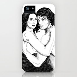 Jamie & Claire cover iPhone Case