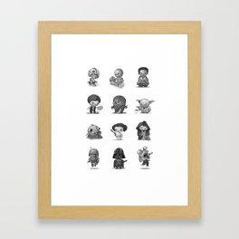 Star Kids Wars Framed Art Print