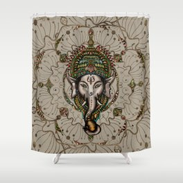 Lord Ganesha - Canvas Lord Ganesha - Canvas Shower Curtain