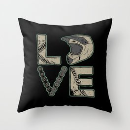 I Love Dirt Bike | Motocross Throw Pillow