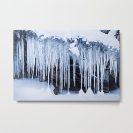 Frosty icicles Metal Print