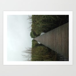 Walking the Boardwalk Art Print