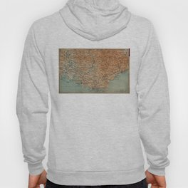 Vintage Map of Southern France (1914) Hoody