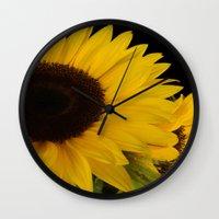 sunshine Wall Clocks featuring Sunshine by Lena Photo Art