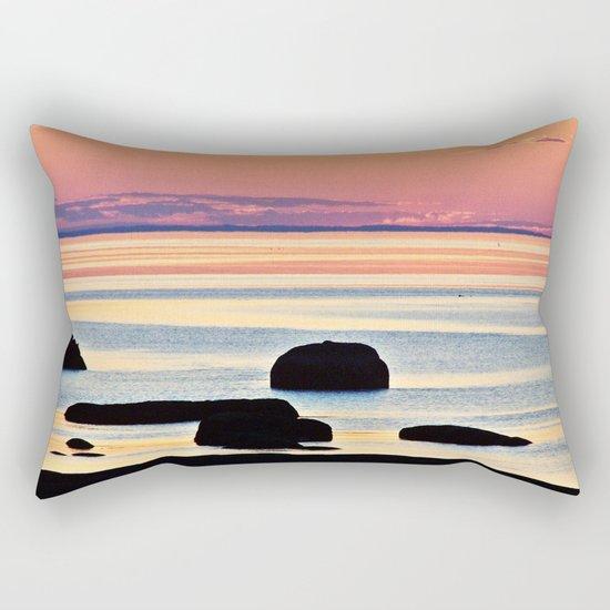 Painted Seas at Dusk Rectangular Pillow
