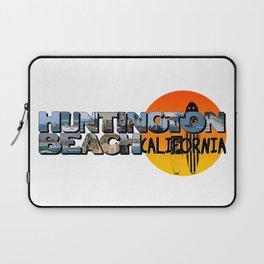 Huntington Beach California Big Letter with Sun Laptop Sleeve