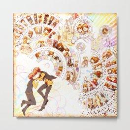 HP Inspired Cartoon Boys Marauders Map Metal Print