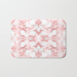 Abstract Red Marbel Bath Mat