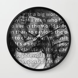 Graphite Pencil Drawing entitled: Ali - Impossible is Nothing Wall Clock