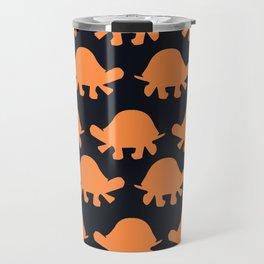 Turtles Orange Travel Mug
