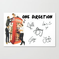 One Direction - Phone Booth Canvas Print