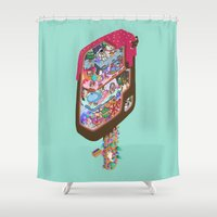 icecream Shower Curtains featuring Icecream pop by makapa