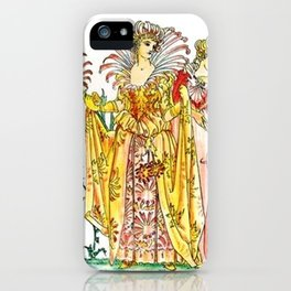 Vintage Tiger-Lily Lady Goddess iPhone Case