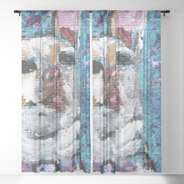 Lucy the Chihuahua Sheer Curtain