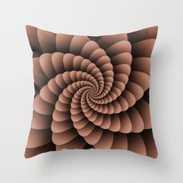 Sherwin Williams Canyon Clay Nautical Swirl Digital Design - Nautilus Swirl Throw Pillow