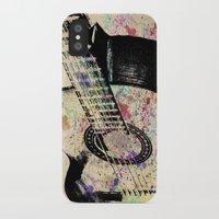 guitar iPhone & iPod Cases featuring Guitar by Del Vecchio Art by Aureo Del Vecchio